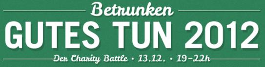 Banner Betrunken Gutes Tun