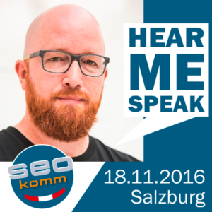 Stefan David: Hear me speak at SEOkomm 2016