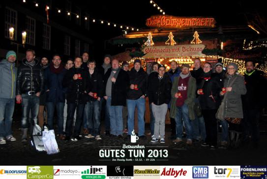 Gruppenfoto Betrunken Gutes Tun 2013 in Münster
