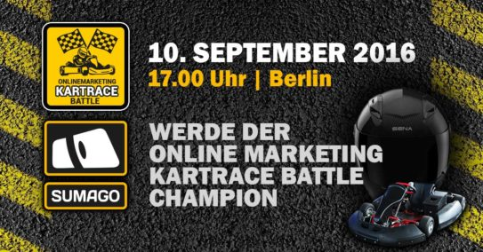 Online Marketing Kartrace Battle am 10. September in Berlin